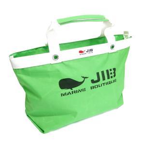 JIB ファスナーつきトートバッグ インナージップ Mサイズ TDFM98 グラスグリーン ベルトなし 8文字まで名入れ無料 セイルクロスバッグ ジブ じぶ horiman