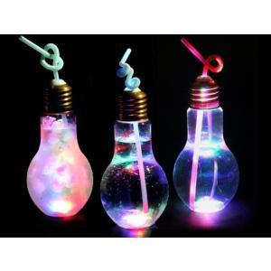 光る電球型ボトル 500ml【予備ICパーツ付】(140個入) horishoten