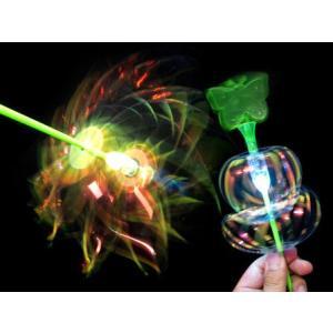 光るおもちゃ 光るくるくるハナビ棒(20個入) horishoten