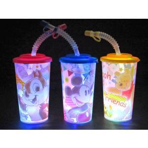 光るおもちゃ ディズニー 光るストローコップ2(6個入) horishoten
