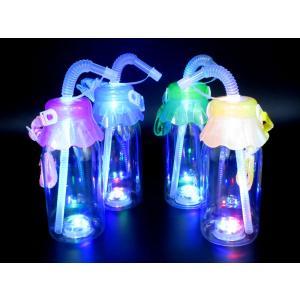 光る牛乳瓶型ボトル(タピオカ対応) ストラップ付(12個入) horishoten