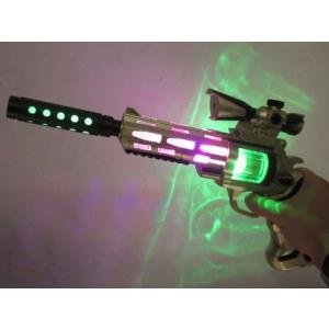 光るおもちゃ 光るアクションサウンドガン マグナム(1個入) horishoten