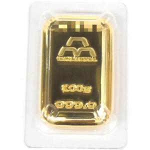 純金 インゴット 日本マテリアル ゴールドバー 24金 100g 金塊(38282)