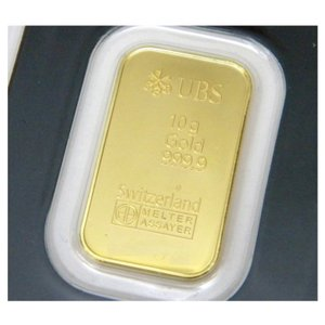 UBS 純金 インゴット ゴールドバー 24金 /ゴールド/K24 総重量10g(39394)