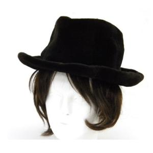 エルメス HERMES 帽子 ハット ダークブラウン シェアードミンク 57 【中古】(40722)|horita78