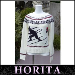 イーハイフンワールドギャラリー  スキー柄ニットプルオーバー 編み込み セーター(42016)|horita78