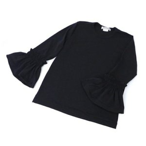 コム・デ・ギャルソン カットソー フリル サイズ:L 黒【中古】(43661)|horita78