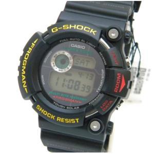 カシオ 腕時計 G-SHOCK フロッグマン タフソーラー GW-200Z-1JF 黒 【中古】(46190)|horita78