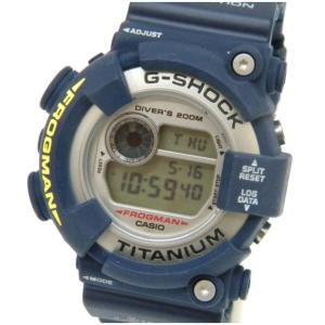 カシオ 腕時計 G-SHOCK フロッグマン DW-8200NK-2JR ネイビー 【中古】(46492)|horita78