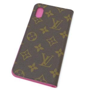 【新品】ルイヴィトン iPhone XS MAX用 ケース M67481 モノグラム ローズポップ フォリオ iPhoneケース ヴィトン アイフォンケース スマホケース ブランド(47232 horita78