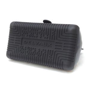 デルボー DELVAUX ハンドバッグ ザ・チャンピオン 2WAY ショルダーストラップ付き ブリヨン 黒×白 ビニール×ラバー(47830) horita78 03
