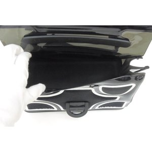 デルボー DELVAUX ハンドバッグ ザ・チャンピオン 2WAY ショルダーストラップ付き ブリヨン 黒×白 ビニール×ラバー(47830) horita78 04