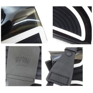 デルボー DELVAUX ハンドバッグ ザ・チャンピオン 2WAY ショルダーストラップ付き ブリヨン 黒×白 ビニール×ラバー(47830) horita78 05
