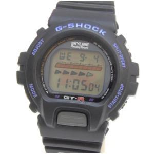 カシオ メンズウォッチ 腕時計 G-SHOCK SKYLINE GT-Rコラボ DW-6600B-GTR 黒 【中古】(48194)|horita78