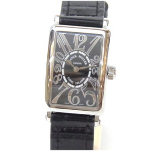フランクミュラー 腕時計 ロングアイランド クオーツ 革ベルト 902QZ 黒盤 【中古】(48307)|horita78