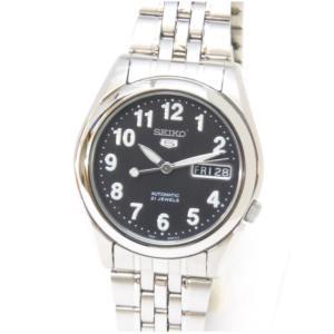 セイコー SEIKO メンズウォッチ 腕時計 セイコー5 自動巻き SNK381K1 黒盤 ステンレススチール 【中古】(48579)|horita78