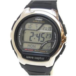 カシオ Casio ウェブセプター 電波時計 WV-58J-1AJF 黒 【中古】(48763)|horita78