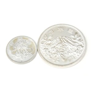 S39 東京オリンピック 1000円銀貨100円硬貨セット TOKYO【中古】(48867)|horita78|03