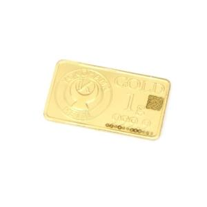 横浜金属 純金 インゴット ゴールドバー 24金 ingot /ゴールド/K24 1g 【中古】(49049)