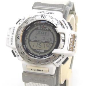 カシオ メンズウォッチ 腕時計 プロトレック PROTREK PRT-40SJ-7AT 白 【中古】...