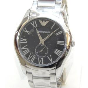 エンポリオ・アルマーニ メンズウォッチ 腕時計 クオーツ VALENTE AR11086 黒盤(49499)|horita78