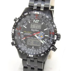 ケンテックス KENTEX メンズウォッチ 腕時計 ブルーインパルス S368X-16 黒 ステンレススチール 【中古】(50035)|horita78