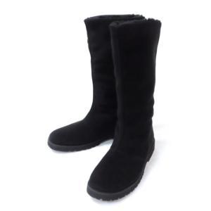 クロールバリエ スエードブーツ 黒 23.0cm(50276) horita78