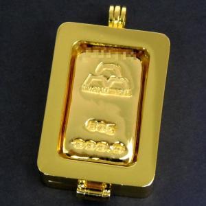 日本マテリアル 24金 純金 インゴット 50g ペンダントトップ 枠脱着可能 ゴールドバー K24...