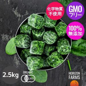 冷凍 ほうれん草 キューブ 1kg オランダ産 化学物質不使用 horizonfarms