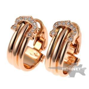 カルティエ 2C ダイヤ 150周年限定 イヤリング|hornetito