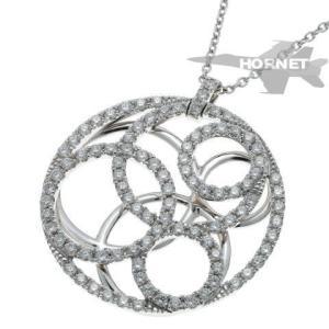 デビアス ATEA ダイヤ ネックレス   ホワイトゴールド 750WG|hornetito
