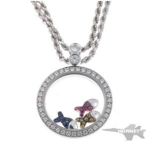 ショパール ハッピーダイヤモンド フィッシュ マルチ ネックレス 79/4926/406 ホワイトゴールド 750WG|hornetito