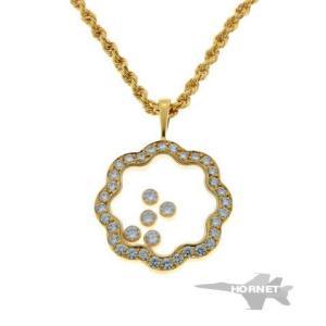 ショパール ハッピーダイヤモンド 5P ネックレス 4745 イエローゴールド 750YG|hornetito
