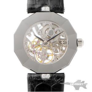 CENTURY センチュリー スケルトン ウォッチ ダイヤ 手巻   PT950 ボーイズ 時計|hornetito