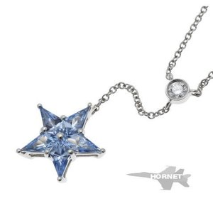 Tiffany&Co. ティファニー スターモチーフ サファイア ダイヤ ネックレス   プラチナ PT950|hornetito