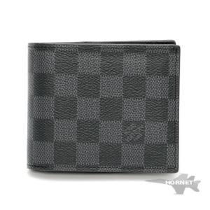 LOUIS VUITTON ルイヴィトン ポルトフォイユ・スレンダーID 二つ折り財布 N64002 ダミエ グラフィット|hornetito