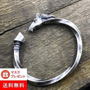 ブレスレット 馬デザイン バングル 馬ヘッド 蹄蹄  サイズ調節可能 マスク プレゼント