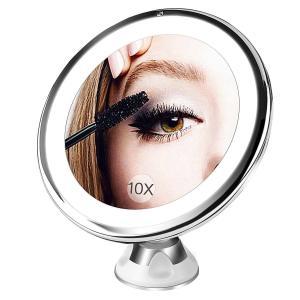 10倍拡大鏡 LED化粧鏡 浴室鏡 卓上鏡 女優ミラー|hoshinosyounin