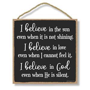 Honey Dew Gifts キリスト教徒 壁飾り I Believe in God - 10 x...