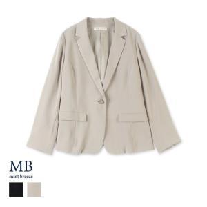 109b2fae3c824 大きいサイズ おしゃれ 40代 麻混テーラードジャケット 60代 【fleur by mint breeze