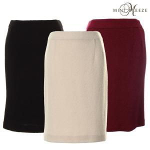 【アウトレット】ブークレニットのタイトスカート 大きいサイズ レディース 【MINT BREEZE ミントブリーズ】