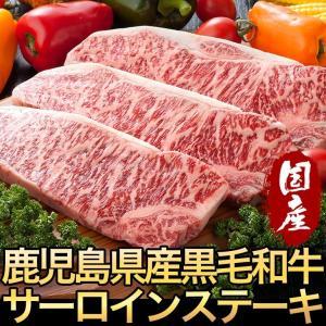 鹿児島黒毛和牛サーロインステーキ180g×3枚【ミートGM-1】|hot-emu