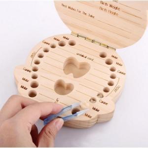 赤ちゃん用 乳歯ボックス 実木材料 乳歯ケース 乳歯入れ|hot-style