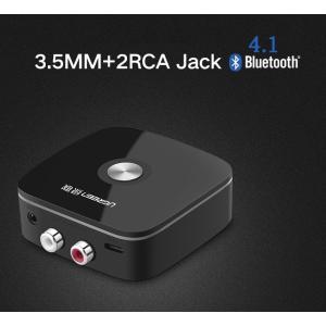 Bluetooth 4.1 オーディオ レシーバー ワイヤレス 3.5mm ステレオ 2RCA  無線受信機 ホームステレオ ヘッドホン 車内AUX音声受信用|hot-style