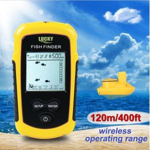 ポータブル魚群探知機 携帯型フィッシュファインダー ワイヤレ...