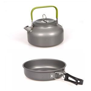 キャンピング 鍋 フライパン やかん 3点セット アウトドア用 キャンプ ハイキング 調理器具 食器セット|hot-style|03