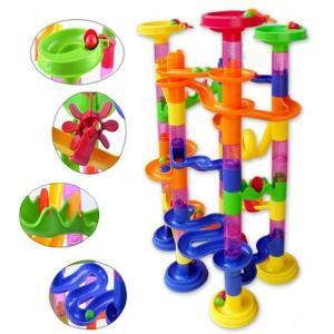 105ピース DIY ボールトラック プラスチック ビルディングブロック  くるくるボール転がし 知育玩具 ラトルタワー 子供【アウトレット】|hot-style