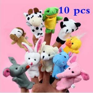 指人形セット 10種類 セット 指人形 ぬいぐるみ 動物指人形 知育 動物 どうぶつ園 フィンガー パペット|hot-style
