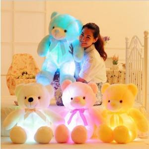 ぴかぴかベアー 光る クマ ぬいぐるみ テディベア マスコット 50センチ ライトアップ LED|hot-style