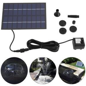 ソーラー 噴水 200L/h ソーラーポンプ 噴水ポンプキット 太陽光発電 庭 ガーデン 散水